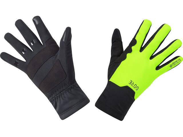 GORE WEAR M Gore-Tex Infinium guanti taglio medio, black/neon yellow